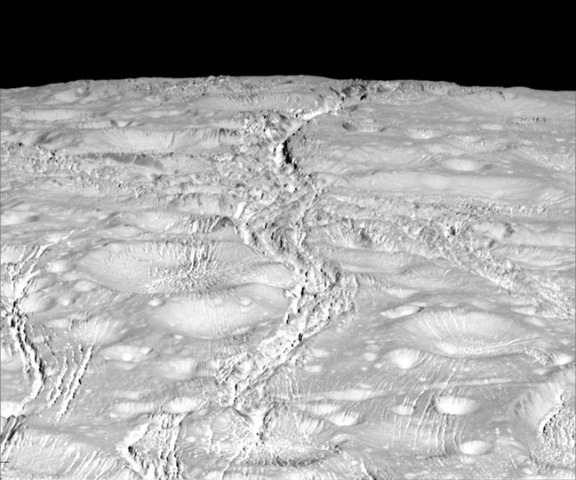 Cassini view of Enceladus' north pole
