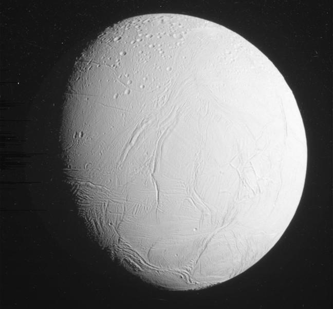 Cassini's full view of Enceladus. Pic: NASA/JPL-Caltech