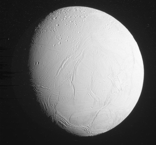Cassini's full view of Enceladus. Pic: NASA/JPL-Caltech