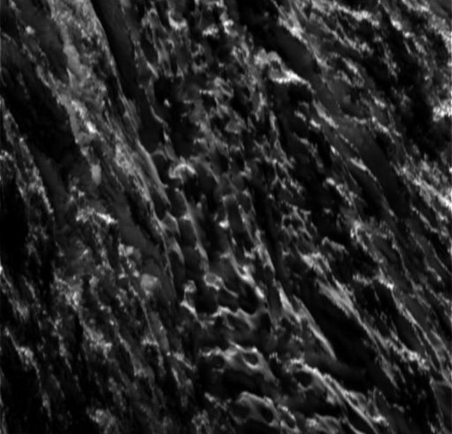 Cassini's close-up of the surface of Enceladus. Pic: NASA/JPL-Caltech