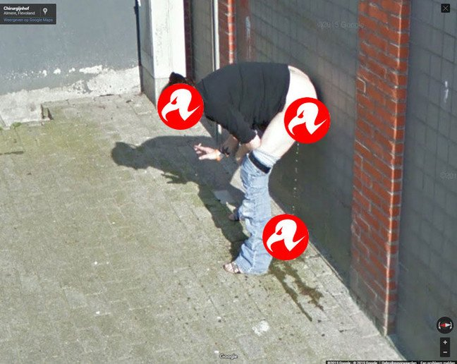 Our censored version of the Street View woman