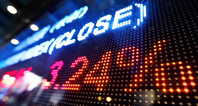 Stock market image via Shutterstock