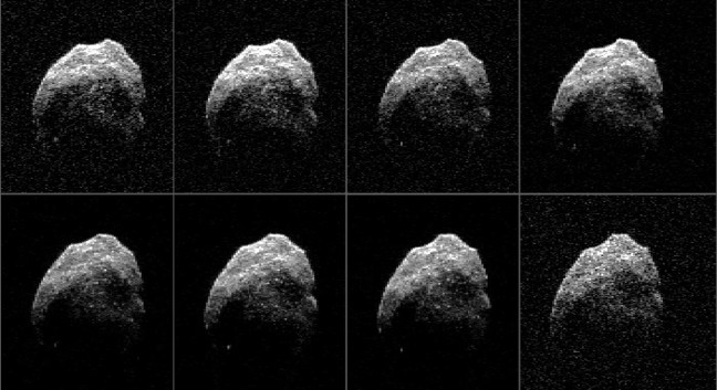 NASA's radar images of the Halloween Asteroid