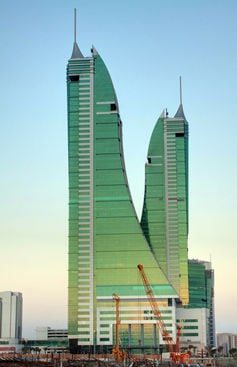 the Bahrain Financial Harbour twin towers by Allan Donque CC 2.0