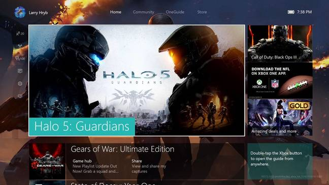 The new Xbox Experience is powered by Windows 10