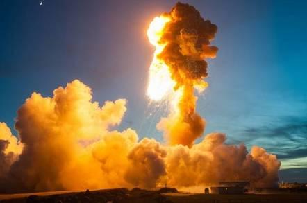 Antares rocket blows up