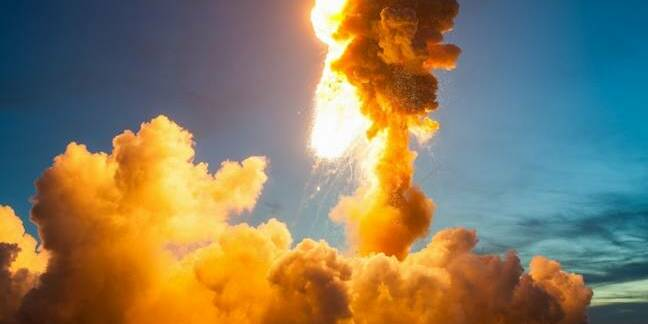 NASA images of Antares explosion