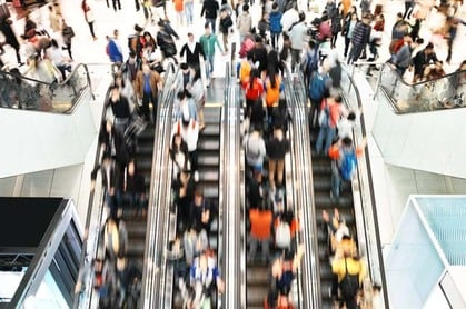 Shoppers escalators1 photo via Shutterstock
