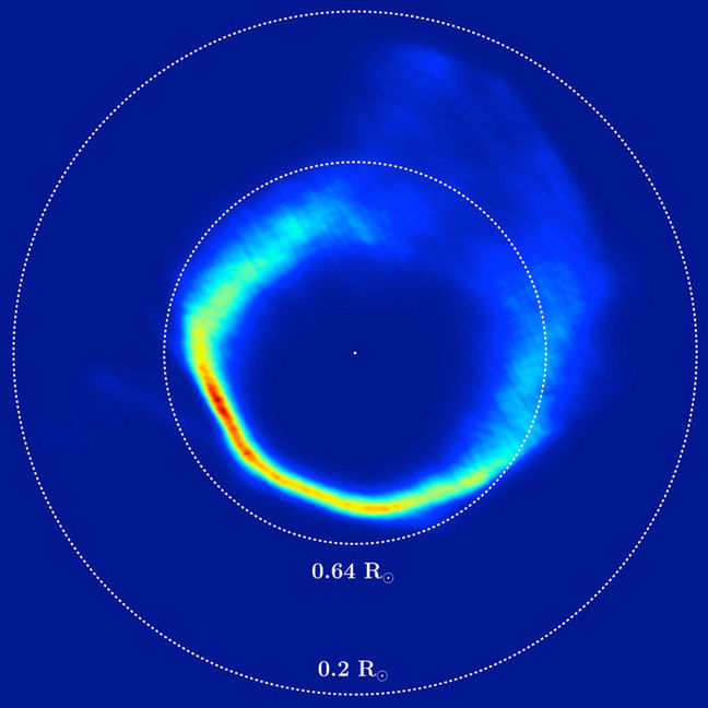 The Doppler Tomography image of the white dwarf and rings