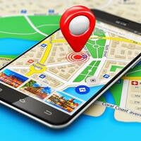 map on a mobile phone cellphone