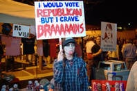 I would vote republican but I crave brains by https://www.flickr.com/photos/clarkmackey/  cc 2.0 attribution generic https://creativecommons.org/licenses/by/2.0/