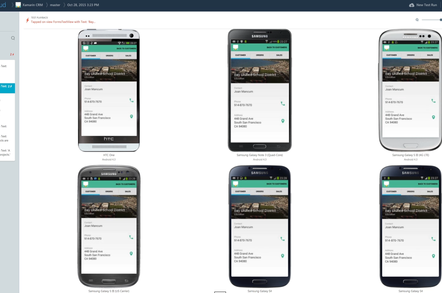 Xamarin Test Cloud lets you deploy apps to multiple cloud-hosted devices for testing
