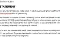 Carnegie-Mellon University's statement
