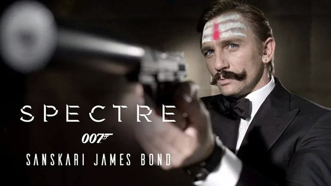 A Sanskari James Bond Spectre Poster