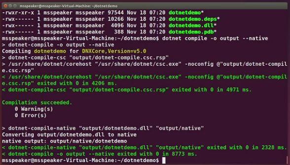 Microsoft demos .NET Native on Linux