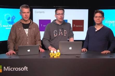 Richard Lander (Microsoft), Immo Landwerth (Microsoft), Miguel de Icaza (Xamarin)