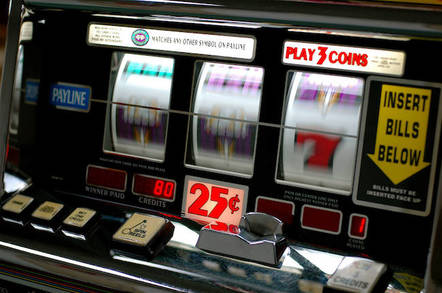 Slot machine by https://www.flickr.com/photos/kubina/ cc 2.0 attribution sharealike https://creativecommons.org/licenses/by-sa/2.0/