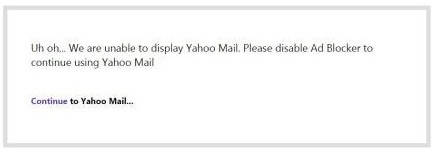 The Yahoo Mail message