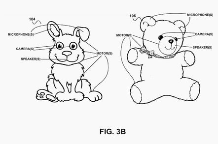 Creepy Google patents for surveillance teddies