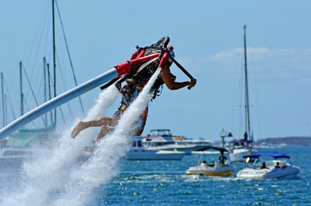 Water jet pack photo via Shutterstock