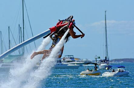Water jet pack photo via Shutterstock