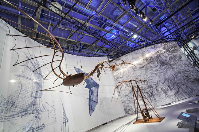A view of the da Vinci exhibition