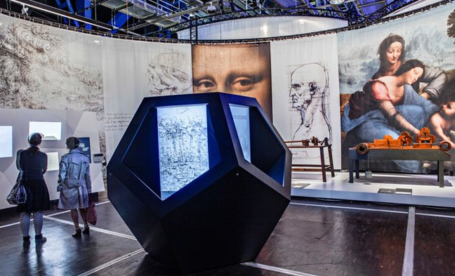 Another view of the da Vinci exhibition