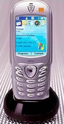 Photo of a Microsoft Stinger phone