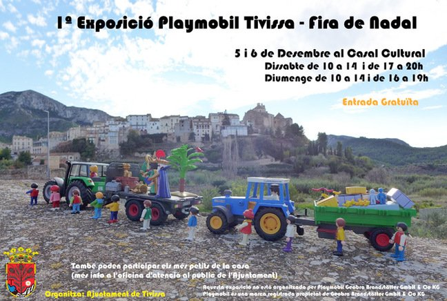 Poster for the Playmobil event in Tivissa
