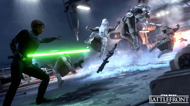 Star Wars: Battlefront luke skywalker. Electronic Arts