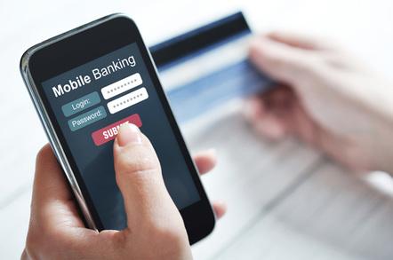 Mobile banking, image via Shutterstock