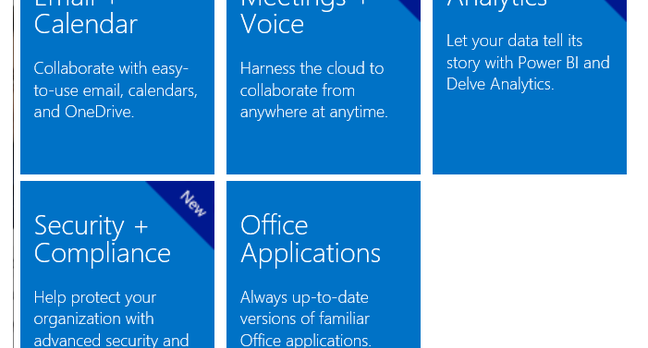 New features in Microsoft's latest Office 365 plans