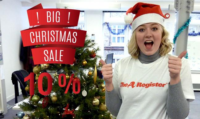 Vulture Central's Megan promotes our Xmas sale