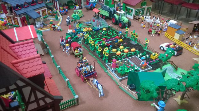 View of the Playmobil farming diorama