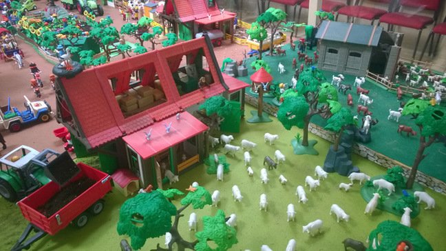 Another view of the Playmobil farming diorama