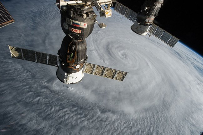 Typhoon Soudelor photographed from the International Space Station