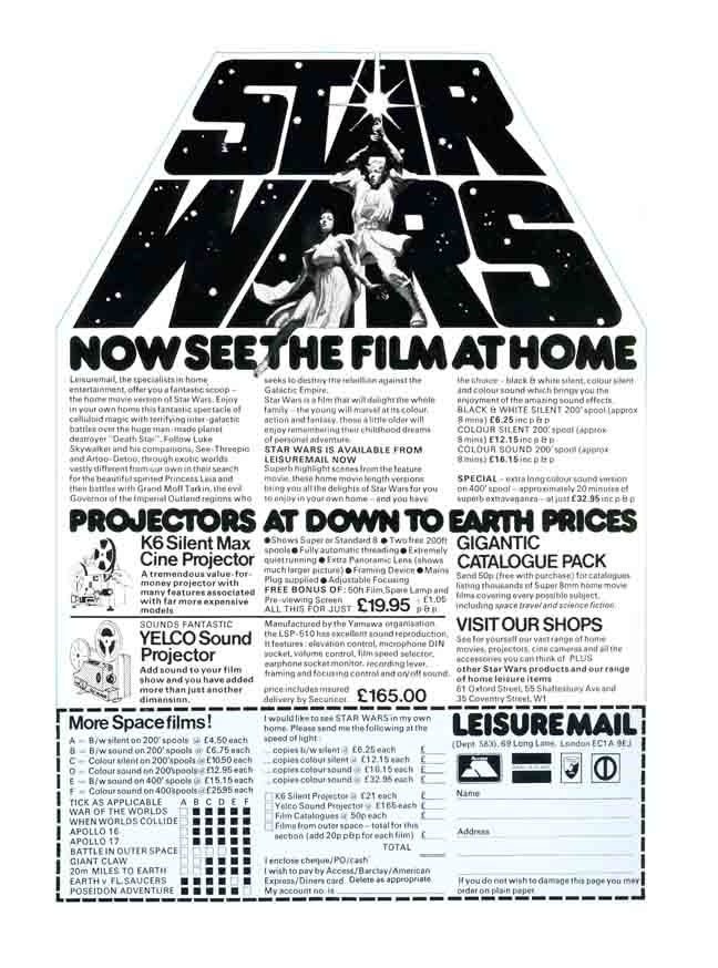 Star Wars home poster