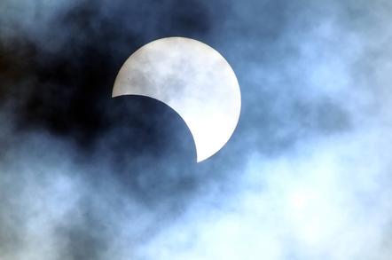 Eclipse image via Shutterstock