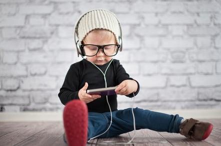 Music kid image via Shutterstock