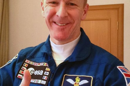 Tim Peake gives the thumbs-up shortly before launch. Pic: Tim Peake