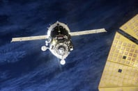 The Soyuz approaches the ISS