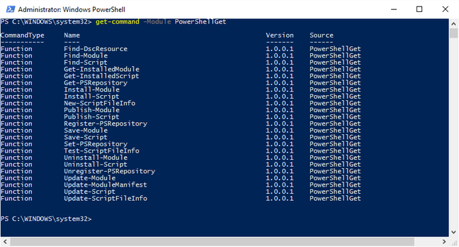 PowerShellGet lets you install modues from cloud repositories