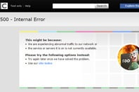Error 500 on BBC News website