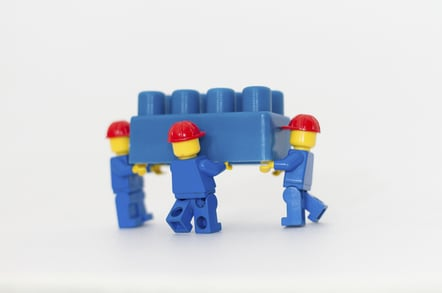Lego builders, photo by Simone Mescolini, via Shutterstock