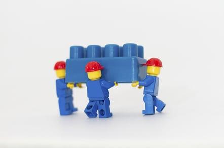 Lego builders, photo by Simone Mescolini, via Shutterstock