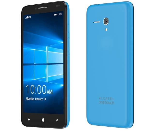 Alcatel Onetouch Fierce XL running Windows 10 Mobile
