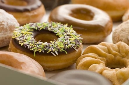 BOX OF ASSORTED DOUGHNUTS (AND A CRONUT). Photo by Shutterstock