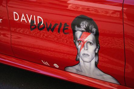 Bowie image via Shutterstock