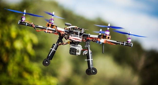 Professional carbon drone with GPS. Pic via Shutterstock