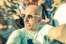 Baldie selfie, image via Shutterstock
